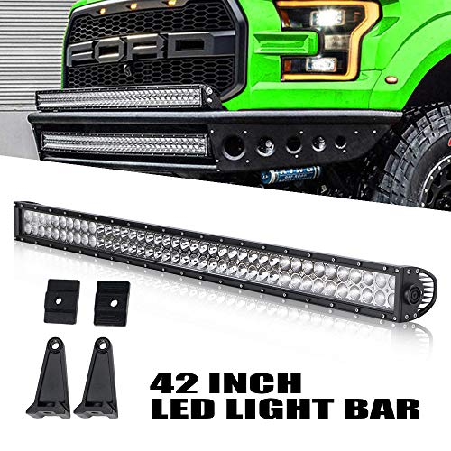 DOT Approved 42 Inch 240W LED Light Bar QUAKEWORLD Light Spot Flood Combo LED Lights Led Bar Driving Fog Lights Jeep Off Road Lights, 2 Years ()