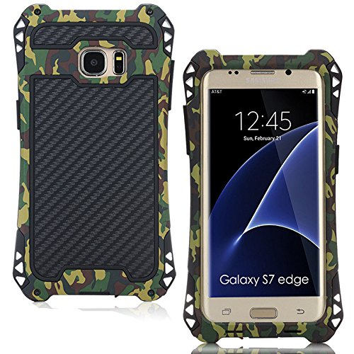 Samsung S8 Plus case,Feitenn Armor Aluminum Metal case Extreme Alloy Metal Bumper Hybrid Soft Rubber Military Heavy Duty Shockproof Hard Case For s8 plus screen protector as gift