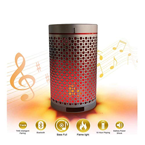LED Flame Table Lamp,Portable Wireless Flame Speakers Lamp Speakers Sound Wave Unleash Stereo Speaker with HD Audio and Enhanced Bass,Create a Romantic Atmosphere for Dancing,Ideal Gifts - Patented Led