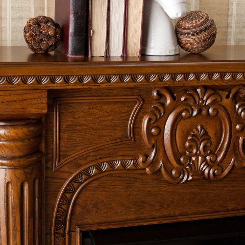 Silas Electric Fireplace - Salem Antique Oak