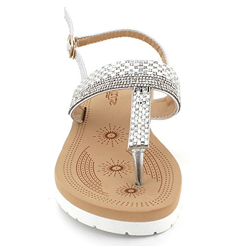 Diamante Post Soir Dames F Cristal Toe Femmes qwx86Cw