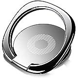 スマホ リング スピナー リングブラケットホリング 薄型バンカーリング 落下防止ホールドリング スタンド機能 車載ホルダー スタイルリング亜鉛 合金の携帯電話のバックルiPhone/iPad/iPod/Galaxy/Xperia/スマートフォ ン・タブレットPCを指1本で保持・落下防止・スタンド薄い3mmの安い指のグ リップの黒として落ちるホールドリング回転リングホルダーに対する強い付着力 ゴールド (ブラック)
