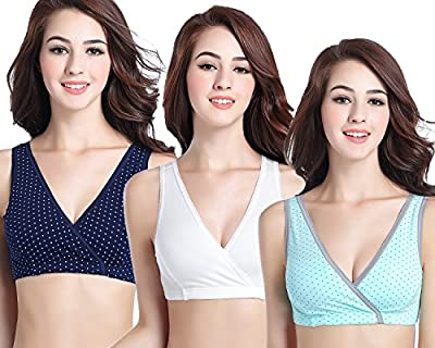 CAKYE 3 Pack Women's Maternity Nursing Bra For Sleep and Breastfeeding