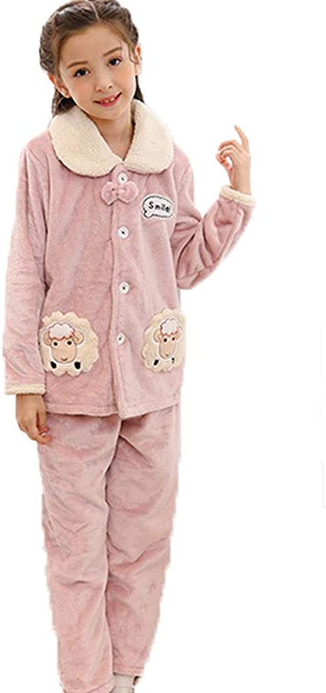 Pijama de otoño e Invierno Las niñas Franela Pijamas for ...