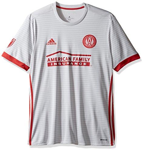 outlet store ba716 4b723 MLS Atlanta United Adult Men Replica Wordmark s/jersey,Large,Light Grey