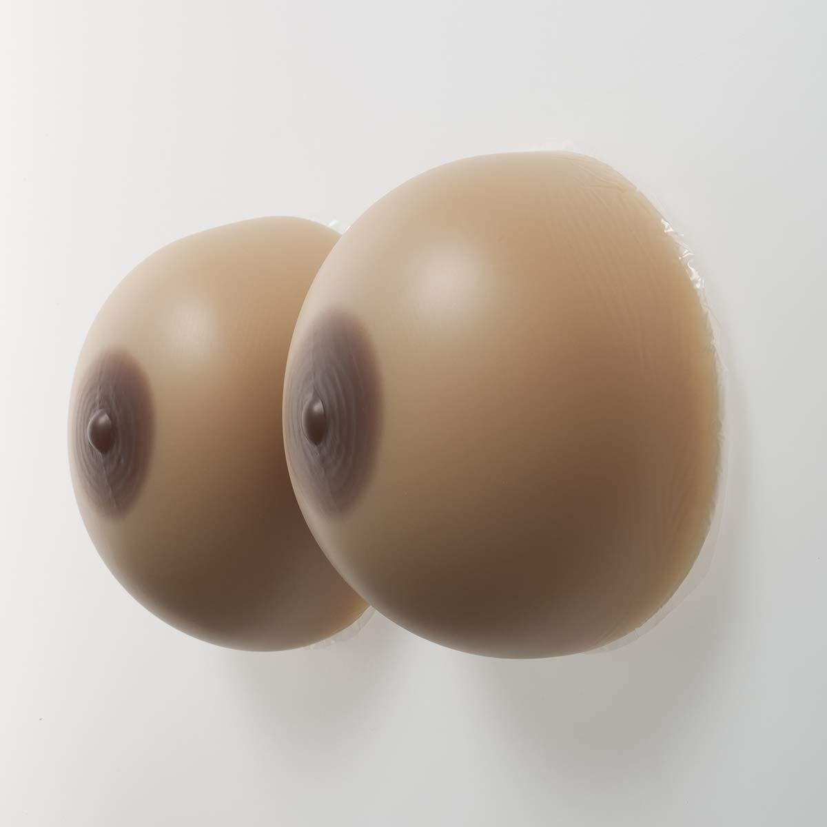 QYJX Prótesis De Silicona De Mama Falsa De Cosplay, Mama De Silicona Autoadhesiva para Pacientes Con Mastectomía, Almohadilla De Silicona Falsa En El Pecho Ropa Desnaturalizada (1 Par),12XL