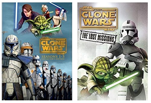 Star Wars:The Clone Wars Season1-6 Complete Series1-5 +Season 6 Lost Mission DVD by LTV