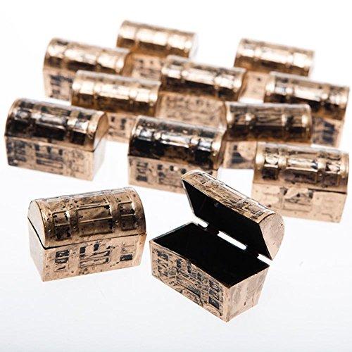 US Toy Dozen Mini Pirate Gold Treasure Chests (24 - Box Toy Pirate