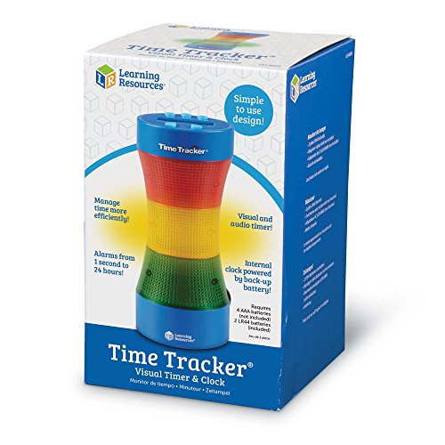Learning Resources Time Tracker Visual Timer & Clock, Blue
