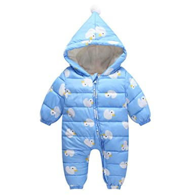 f7a85eb64662 Amazon.com  Baby Winter Suit Romper Down Cotton Clothes Rompers ...