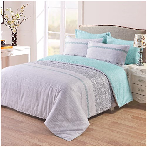 FANGLUN 3 piece Sets of Duvet Cover Bedding ,Ultra-Soft Microfiber,Reversible Design(King) (Where To Buy Duvet Cover)