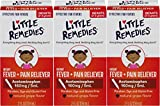 Little Remedies Infant Acetaminophen Fever/Pain Reliever, Grape Flavor, 2 Ounce (Pack of 3)