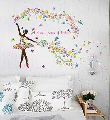Etiqueta de la pared de la bailarina Tatuajes de pared Niñas Bebé ...