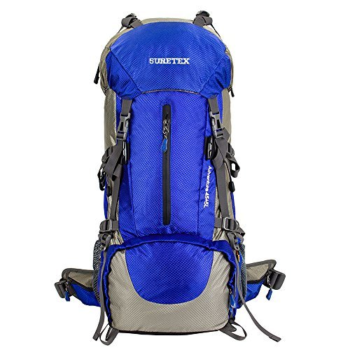suretex hiking camping outdoor backpack 50liter60liter external frame waterproof backpacking pack with rain cover detachable unisex - External Frame Hiking Backpack