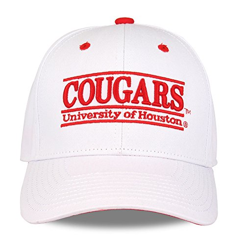 NCAA Houston Cougars Unisex NCAA The Game bar Design Hat, White, Adjustable]()