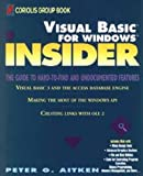 Visual Basic Insider, Peter G. Aitken, 0471590924