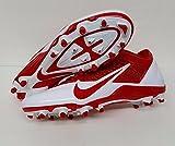 NFL KANSAS CITY CHIEFS NIKE MEN'S ALPHA PRO TD SB LOW FOOTBALL CLEATS RED WHITE SIZE 12 US