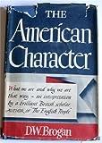 American Character, D. W. Brogan, 0844617466