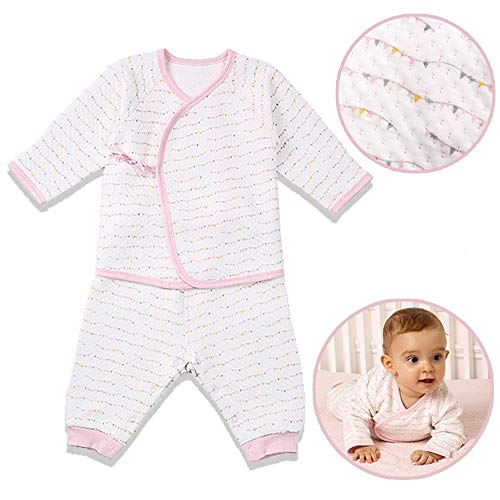 i-baby Premium Matelasse PIMA Cotton Baby Outfit Set Cashmere Like Cotton Romper Set Long Sleeve Newborn Bodysuit Set, Packed in Nice Box (Pink, 3-6 Months)