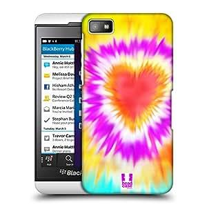 Head Case Designs Bursting Heart Tie Dye Protective Snap-on Hard Back Case Cover for BlackBerry Z10