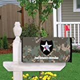 Military 2nd Infantry Division Magnetic Mailbox Cover