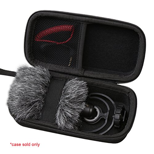Aproca Hard Storage Travel Case Compatible Rode VideoMicro Compact On-Camera Microphone Rycote Lyre Shock Mount