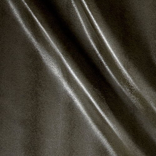 Richloom Tough Faux Leather Lola Gunmetal Fabric By The Yard