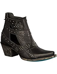 Lane Boots Womens Studs and Straps Boot (Black)
