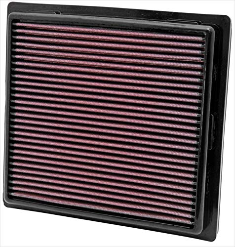 K&N engine air filter, washable and reusable:  2010-2019 Jeep/Dodge SUV V6/V8 (Grand Cherokee, Durango) 33-2457