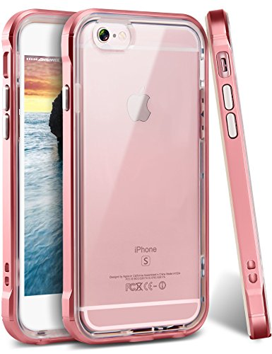 Price comparison product image iPhone 6s Plus Case,  Ansiwee Reinforced Frame Crystal Highly Durable Shock-Absorption Flexible Soft Rubber TPU Bumper Hybrid Protective Case for Apple iPhone 6s / 6 Plus 5.5inch (Rose Gold)