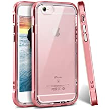 iPhone 6 Case, iPhone 6s Case, Ansiwee Reinforced PC Frame Crystal Durable Shock-Absorption Flexible Soft Rubber TPU Bumper Hybrid Protective Case for Apple iPhone 6/6s 4.7inch (Rose Gold)