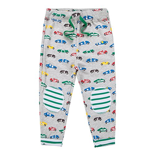 Boys Cotton Pants Drawstring Elastic Sweatpants By Jobakids (Green,5T)
