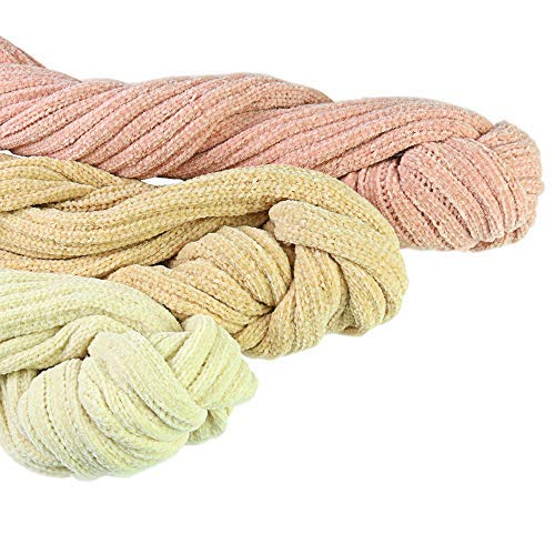 Homedy Kid\'s Winter Scarf Soft Chenille Boys Girls Warm Scarf Solid Color Large Hair Ball Scarf (Pink) 15022cm