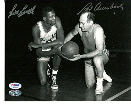 Bill Russell Red Auerbach Signed Photo 8x10 Autographed Celtics AB08318 - PSA/DNA Certified - Autographed NBA Photos