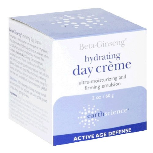 Earth Science Beta-Ginseng Hydrating Day Creme, 2-Ounce Glass Jar