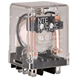 NTE Electronics R10-11D10-24 Series R10 General Purpose AC Relay, DPDT-NO Contact Arrangement, 10 Amp, 24 VDC
