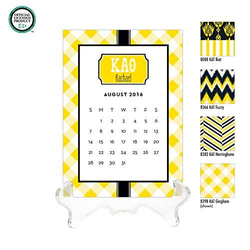 Kappa Alpha Theta Personalized Desk Calendar / 2017 Calendar / Personalized Calendar / Monogrammed Desk Calendar / KAO Big Little / Rush Gift, 2016 Calendar, Sorority Calendar - Kappa Alpha Theta Lilly Pulitzer