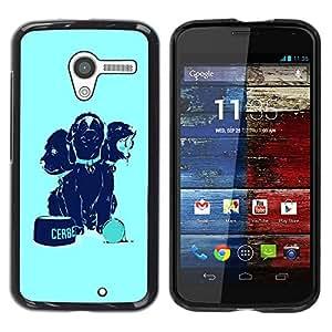 Be Good Phone Accessory // Dura Cáscara cubierta Protectora Caso Carcasa Funda de Protección para Motorola Moto X 1 1st GEN I XT1058 XT1053 XT1052 XT1056 XT1060 XT1055 // Funny Dogs
