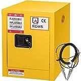 Mophorn Flammable Cabinet Galvanized Steel 1 Door Safety Cabinet 16 Gallon 18 x 23 x 44 Inch Adjustable Shelf Flammable Storage Cabinet