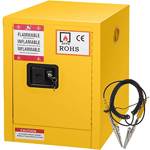 Flammable Liquids Safety Storage - Mophorn Flammable Cabinet Galvanized Steel 1 Door Safety Cabinet 16 Gallon 18