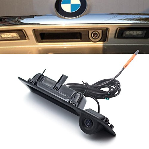 LIEBMAYA 170 degree Car Trunk Handle Backup Camera Rear View HD Camera Parking Backup Camera for BMW 5 F10, 5 F11, 3 F30, X3 Series F25