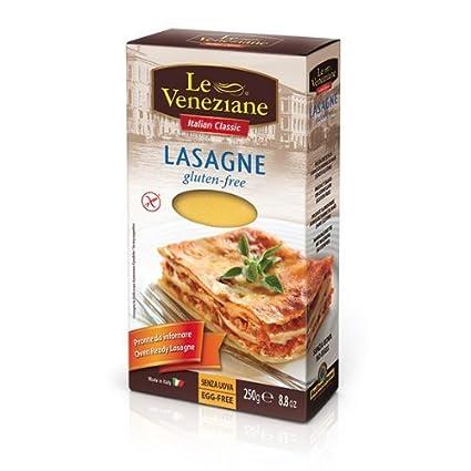 Le Veneziane sin gluten Lasaña hojas 250 g (6 unidades ...
