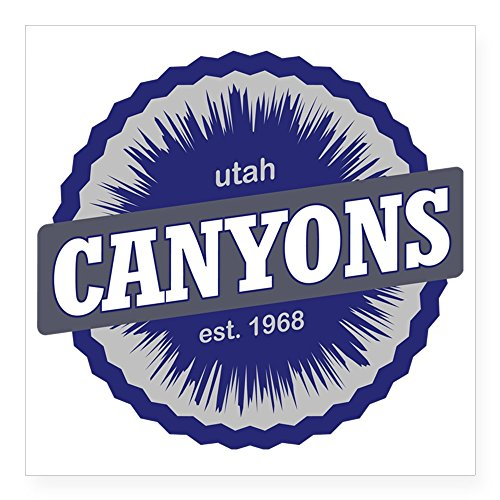 CafePress The Canyons Ski Resort Utah Square Sticker 3