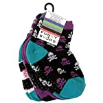 Planet Sox - 4 Pack Childrens Socks Size 2-4 Halloween Skull and Crossbones