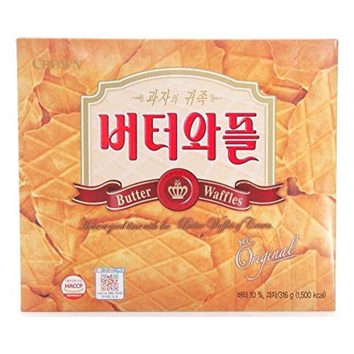 Crown Butter Waffles 316g x 10 버터와플 by Crown Confectionery (Image #1)