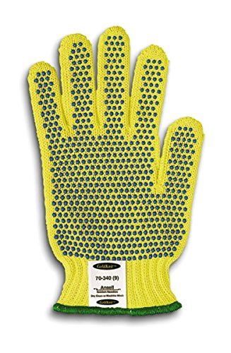 Ansell GoldKnit 70-340 PVC Gloves, Knitted Coated on Kevlar Liner, Small (Pack of 12 Pairs) by Ansell
