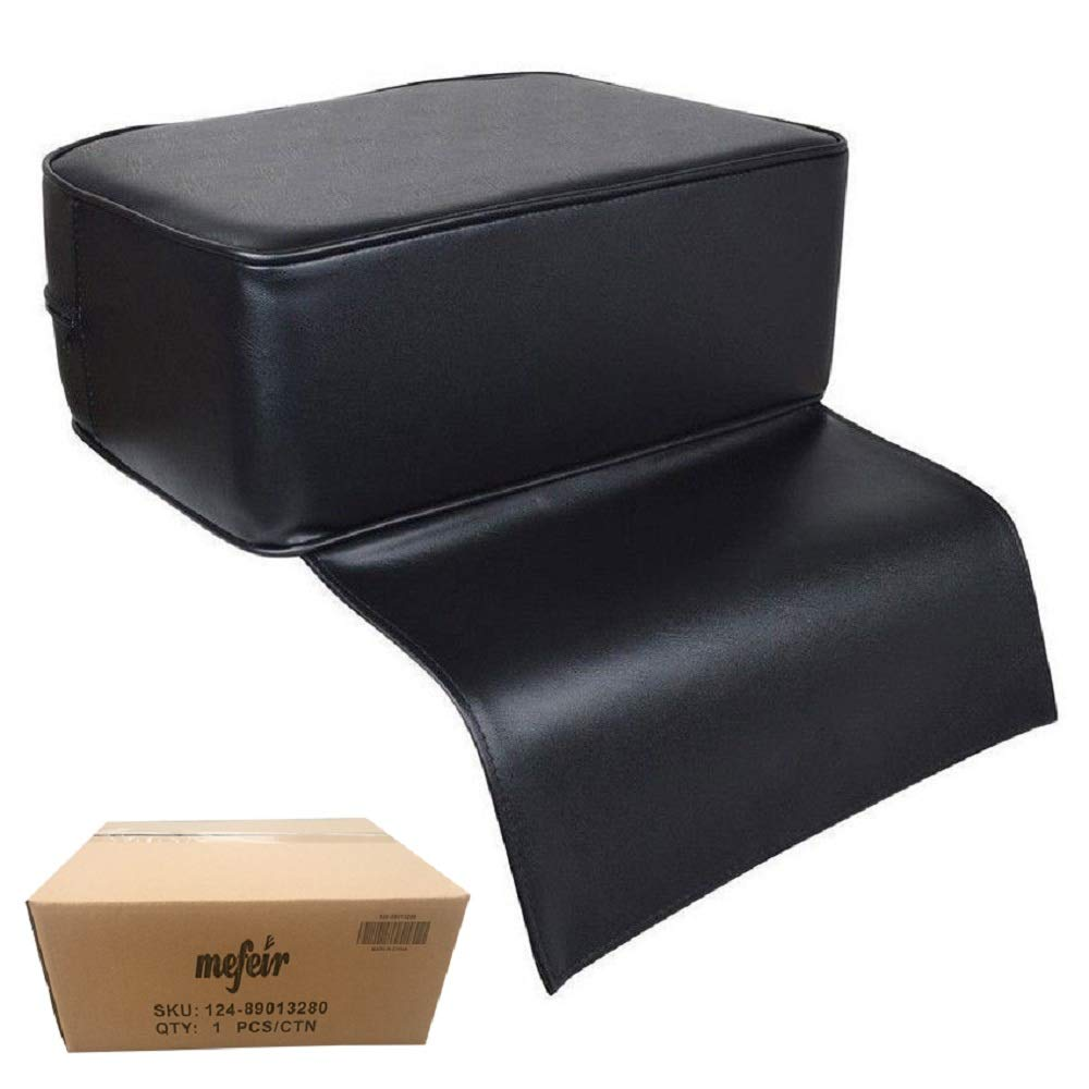 Mefeir Child Kids Booster Seat for Styling Chair, Barber Shop Salon Spa Equipment, Black Cushion Leather Kids Children Use by mefeir