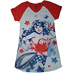 DC Comics Wonder Woman White Nightgown Long Sleep Shirt - L/XL