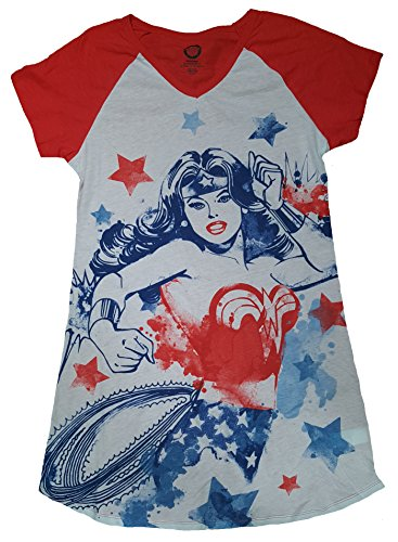 Wonder+Woman+Shirts Products : DC Comics Wonder Woman White Nightgown Long Sleep Shirt
