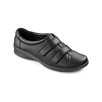 Hotter Leap Extra Extra Extra Wide - Black Womens Shoes